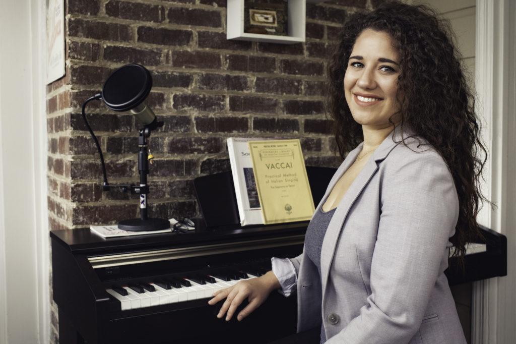 Amanda Caban at home studio